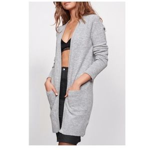 MINKPINK Sunday Tunic Cardigan Gray Size: M/L